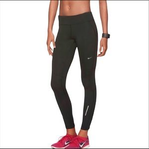 Nike Thermal Running Gray Compression Leggings Athletic Gym Running Workout Sm